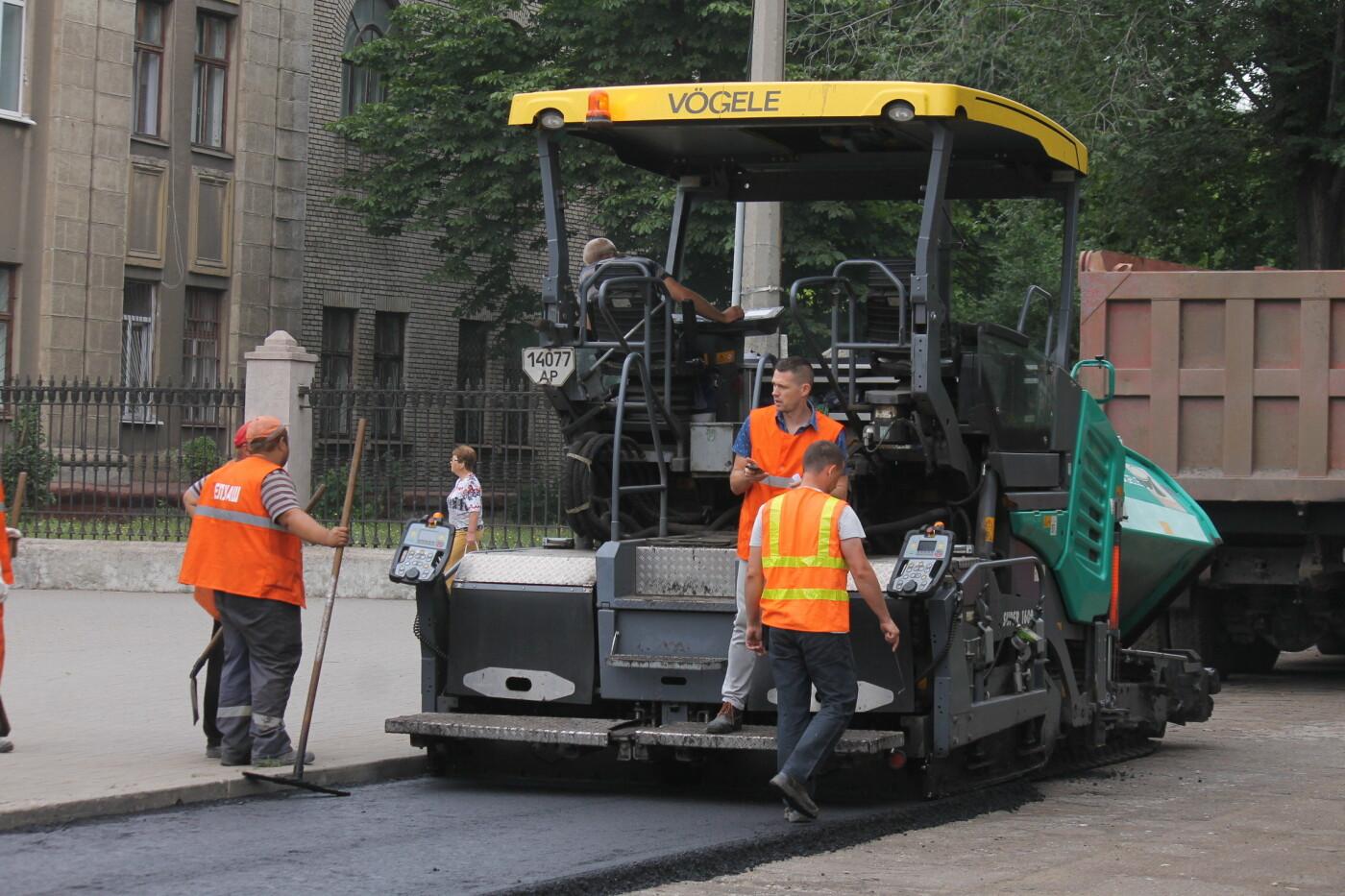 Команда Владимира Буряка продолжает масштабный ремонт дорог в Запорожье, фото-5