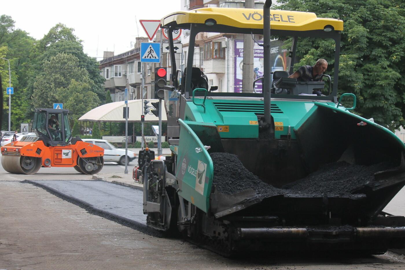 Команда Владимира Буряка продолжает масштабный ремонт дорог в Запорожье, фото-7