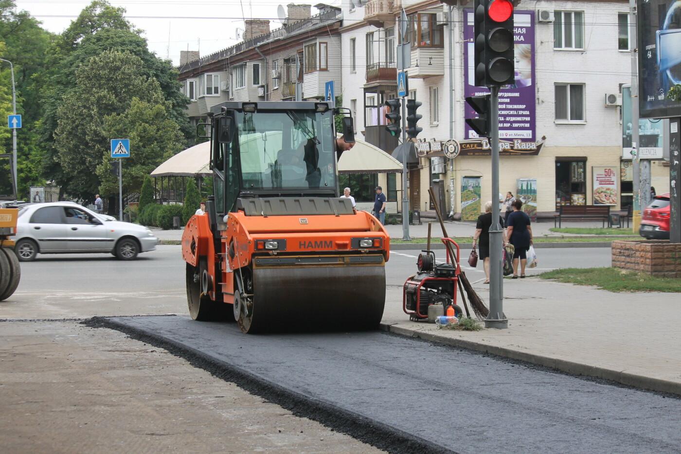 Команда Владимира Буряка продолжает масштабный ремонт дорог в Запорожье, фото-8