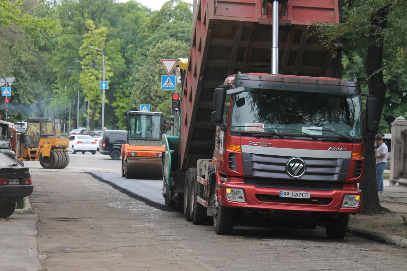 Команда Владимира Буряка продолжает масштабный ремонт дорог в Запорожье, фото-9