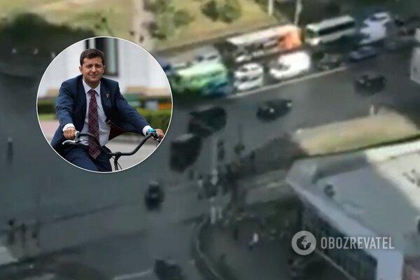 """""""Не велик, а """"Гелик"""": VIP-кортеж Зеленского устроил коллапс в Киеве, украинцы возмущены. Видеофакт, фото-1"""