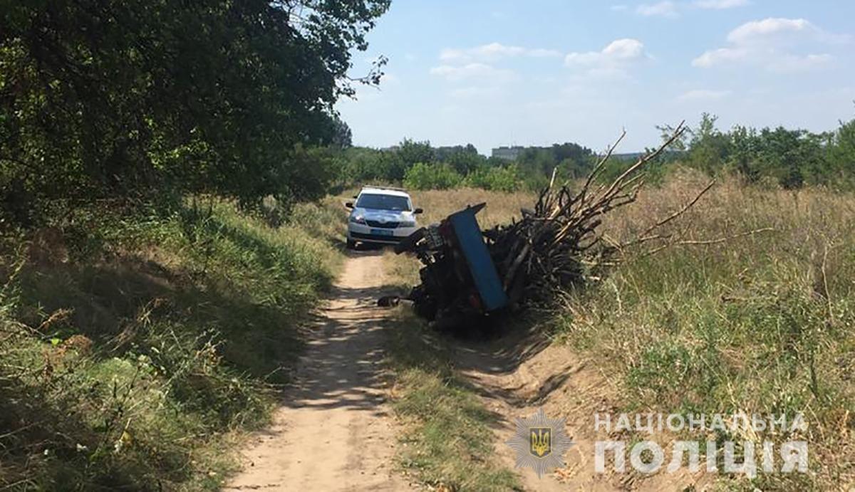 В Запорожской области мужчина ехал на груженом мотороллере и перевернулся: он погиб, - ФОТО, фото-1