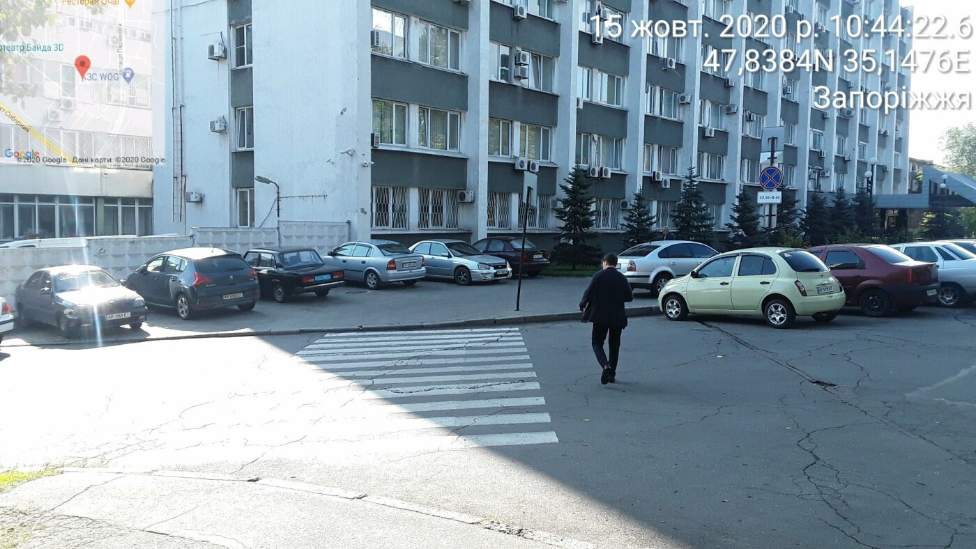 Запорожские инспекторы по парковке оштрафовали машины возле здания Нацполиции, - ФОТО, фото-1