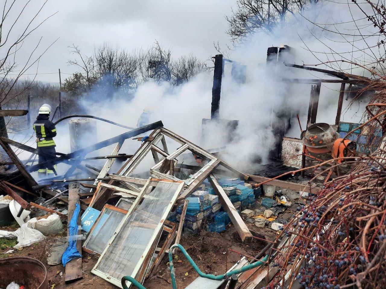В дачном кооперативе под Запорожьем сгорел брошенный дом, - ФОТО, фото-2