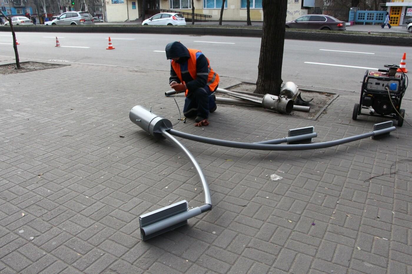 В Запорожье на главном проспекте меняют фонари на энергосберегающие, - ФОТО, фото-2