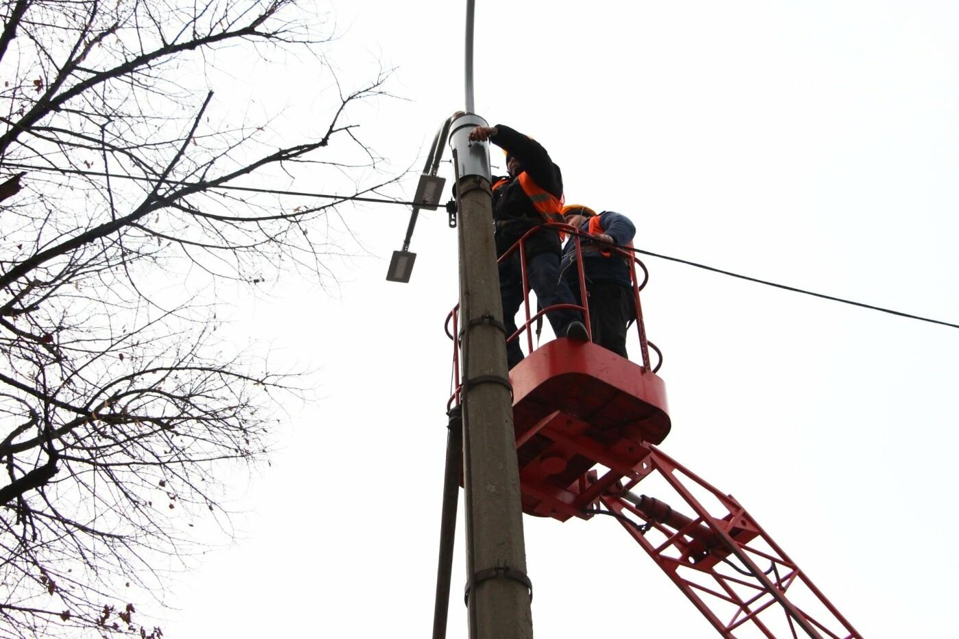 В Запорожье на главном проспекте меняют фонари на энергосберегающие, - ФОТО, фото-4